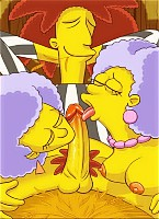 Marge and other babes from Simpsons grind on dicks