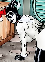 Harley endures the onslaught of Joker.s endless erection
